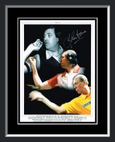 John Lowe Signed And Framed Darts Photograph.