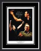 Bobby George Signed Framed Darts Photograph