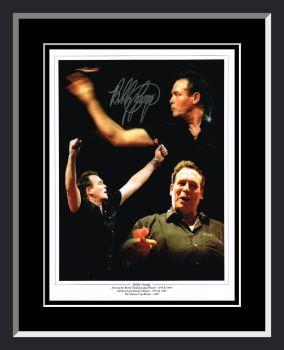 Bobby George Signed Framed Darts Photograph