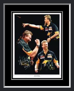 Simon Whitlock  Signed Framed Darts Photograph