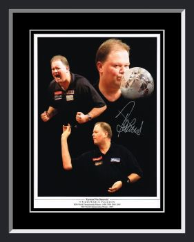 Raymond Van Barneveld Signed Framed Darts Photograph