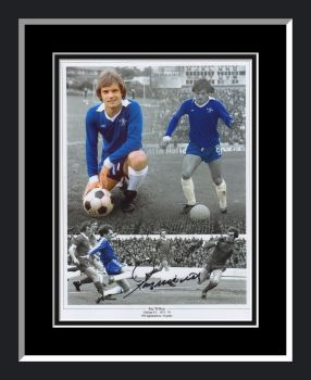 Ray Wilkins Chelsea Signed And Framed Football Montage