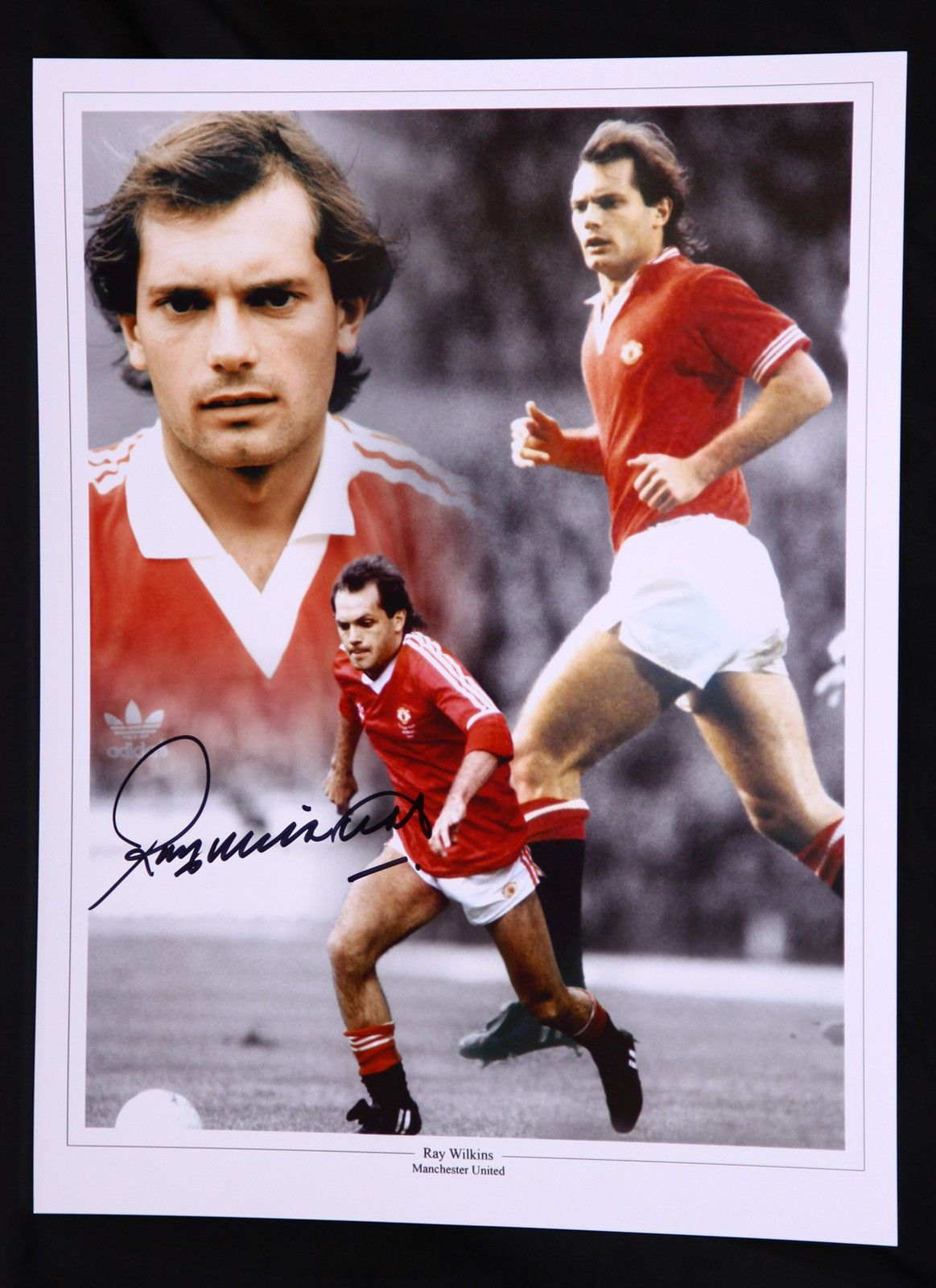 New Ray Wilkins Manchester United Signed 12x16 Football Photograph