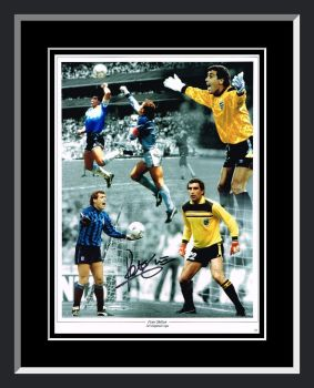 Peter Shilton Signed And Framed England Football Photograph