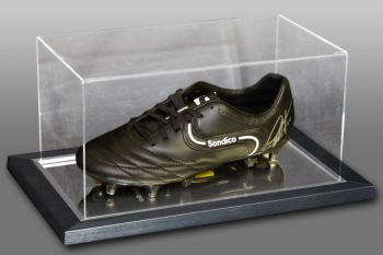 Geoff Hurst Signed Football Boot Presented In An Acrylic Case