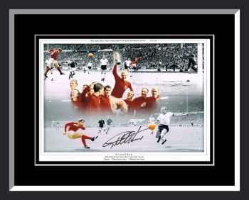 Geoff Hurst England Signed And Framed Football Photograph