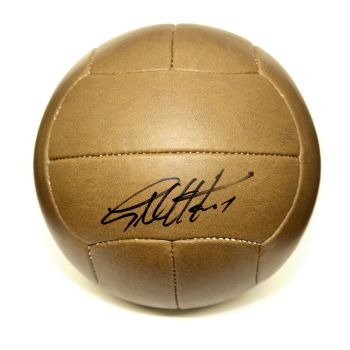 Geoff Hurst Hand Signed Retro Football Ball : England : West ham United