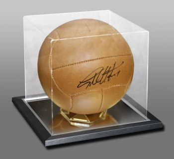 Geoff Hurst Hand Signed Retro Football In an Acrylic Display Case