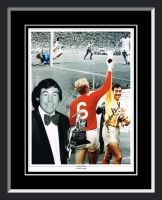 Gordon Banks England Signed And Framed Football Photograph
