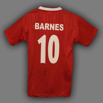 John Barnes Hand Signed No 10 Liverpool Replica Football Shirt