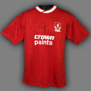 John Barnes Hand Signed Liverpool Replica Football Shirt