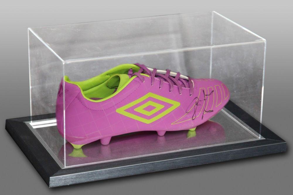 John Barnes Signed Umbro Football Boot Presented In An Acrylic Case