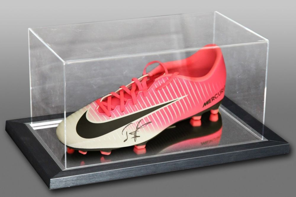 John Barnes Signed Nike Football Boot Presented In An Acrylic Case