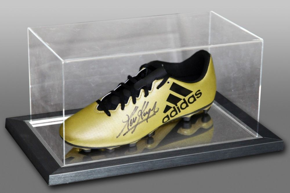 Kevin Keegan Signed Adidas Football Boot Presented In An Acrylic Case