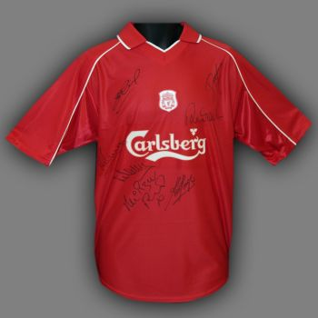 Liverpool Legends Hand Signed Liverpool Replica Football Shirt Signed By 7