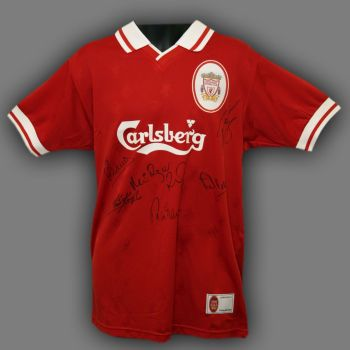 Liverpool Legends Hand Signed Liverpool Replica Football Shirt Signed By 6