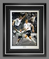 Michael Owen England Signed And Framed Football 12x16 Photograph
