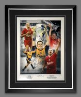 Michael Owen Liverpool Signed And Framed Football 12x16 Photograph