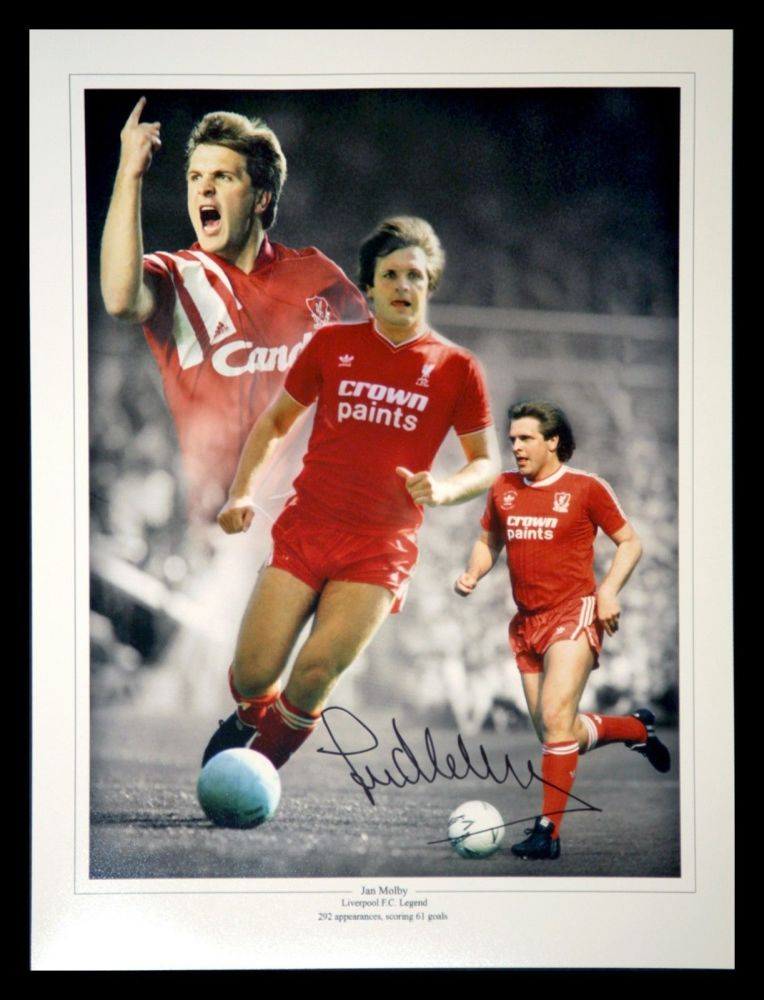 Jan Molby Liverpool Signed 12x16 Football Photograph