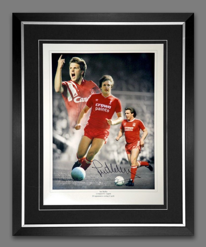 Jan Molby Liverpool Signed And Framed Football 12x16 Photograph