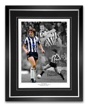 Peter Beardsley Newcastle Signed And Framed Football Montage