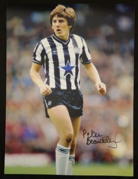 Peter Beardsley Signed 12x16 Newcastle United Photograph A
