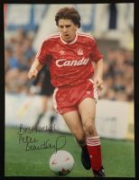 Peter Beardsley Signed 12x16 Liverpool Photograph A