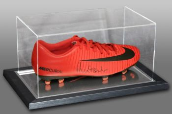 Robbie Fowler Signed Red Nike Football Boot Presented In An Acrylic Case