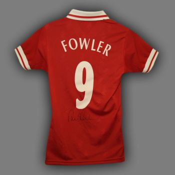 Robbie Fowler Hand Signed Liverpool Replica Football Shirt