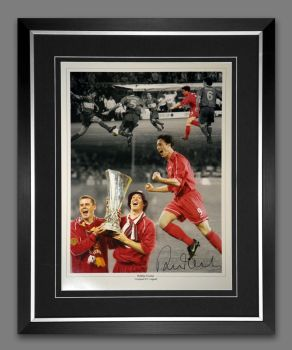 Robbie Fowler Liverpool 12x16 Signed And Framed Football Photograph
