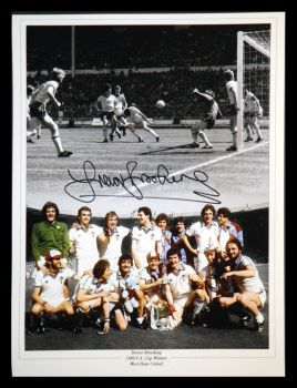 Trevor Brooking Signed West Ham United 12x16 Football Montage