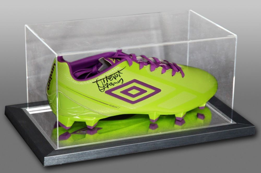 Trevor Francis Signed Umbro Football Boot Presented In An Acrylic Case