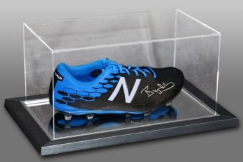 Bryan Robson Signed Football Boot Presented In An Acrylic Case