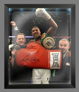 Anthony Joshua Vs klitschko Signed Red Everlast Boxing Glove In A Dome - C