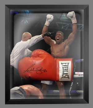 Anthony Joshua Vs klitschko Signed Red Everlast Boxing Glove In A Dome - B