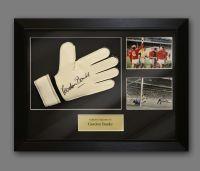 Gordon Banks Signed Goalkeeper Glove In A Framed Presentation