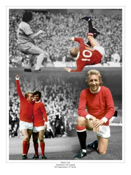 Denis Law Signed 10x8 Photograph A : Collectormania Pre order