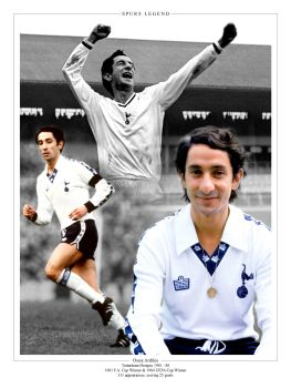Ossie Ardiles Signed 10x8 Photograph  : Collectormania Pre order