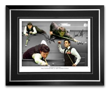 Ronnie O'Sullivan And Jimmy White Dual Signed And Framed Snooker Montage