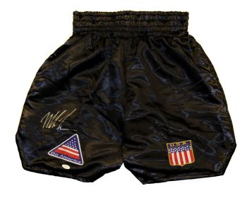 Mike Tyson Signed Custom Made Boxing Trunks : JSA Authenticated