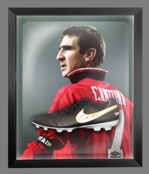Eric Cantona Manchester United Hand Signed Football Boot In An Acrylic Dome Frame