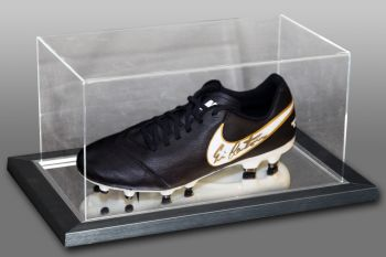 Eric Cantona Signed Football Boot Presented In An Acrylic Case