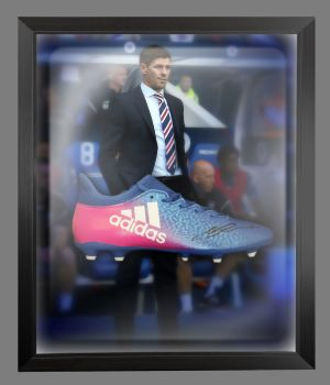 Steven Gerrard Hand Signed Football Boot In An Acrylic Dome Frame