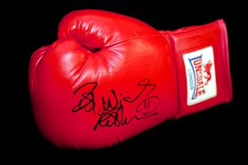 Frank Bruno Hand Signed Red Lonsdale Boxing Glove