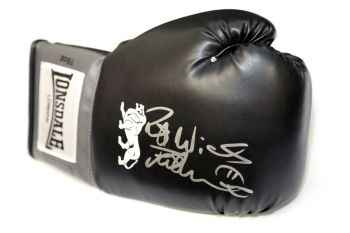 Frank Bruno Hand Signed Black Lonsdale Boxing Glove