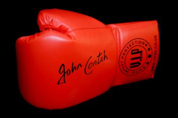 John Conteh Signed Red Vip Boxing Glove
