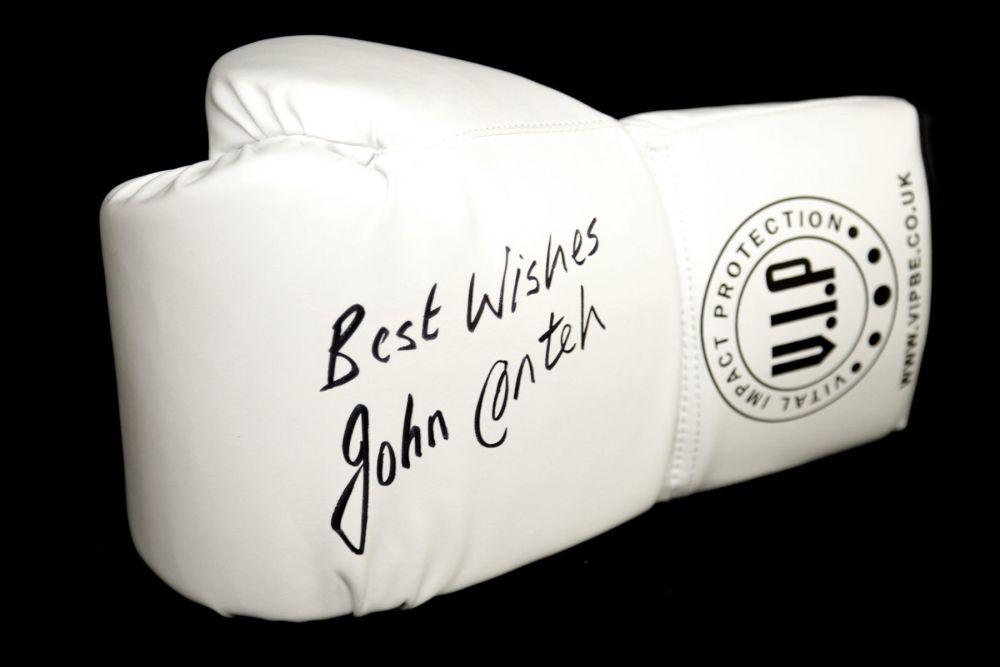John Conteh Signed White Vip Boxing Glove