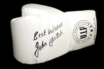 John Conteh Signed White Vip Boxing Glove