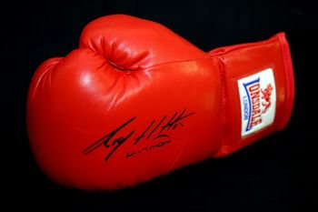 Ricky Hatton Hand Signed Red Lonsdale Autograph Boxing Glove