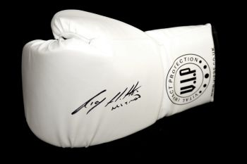 Ricky Hatton Hand Signed White Vip Boxing Glove
